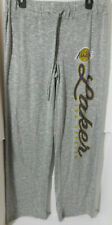 New Ladies Los Angeles Lakers Heathered Gray Layover Knit Tri-Blend Pants Med