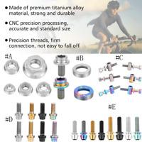 Titanium Alloy Bike Bicycle Motorcycle Repair Assortment Screw Set/ Lock Nut ZH