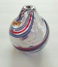 Signed J Hamon Miller Marble Looking Vase or Oil Lamp