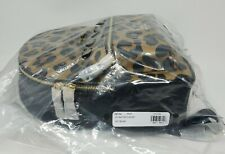 NEW COACH CHARLIE BACKPACK IN BLACK & LEOPARD PRINT MEDIUM 87754 AUTHENTIC NWT