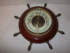 New listing Jason Vintage Barometer Nautical Ship's Wheel Desktop or Wall Mount Made Germany