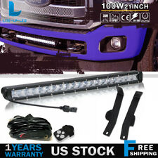 "20""  LED Light Bar Front Hidden Bumper Mounting Brackets Fit for 06-08 Ford F150"