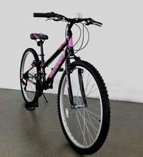 24 Zoll Mädchenfahrrad Damen Rad Jugendrad MTB Mountainbike Schwarz Pink 2402