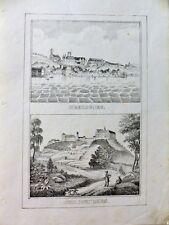 Meersburg Heiligenberg Bodensee Ansichten Lithographie um 1840