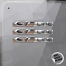 PEGATINA PEUGEOT GT LINE 206 308 MODELO 2 DECAL STICKER AUFKLEBER AUTOCOLLANT