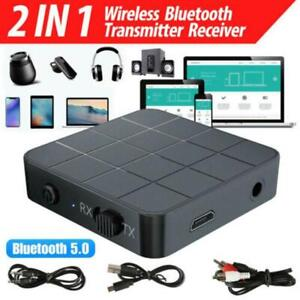 2in1 Bluetooth 5.0 Wireless Audio Transmitter Receiver Hifi Mp3 Adapter RCA AUX!