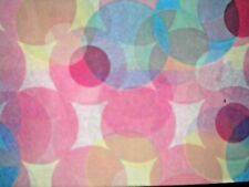American Greetings ~ 5 SHEETS  PASTEL CIRCLES TISSUE PAPER GIFT WRAP