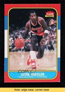 1986-87 Fleer Clyde Drexler #26 HOF READ