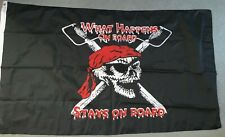 "Taylor Made 61"" X 38"" What Happens on Board Stays on Board"" Pirate Flag"