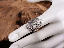 Ring 925 Sterling Silber Antik Look Vintage ausgefallen Gr. 56 NEU