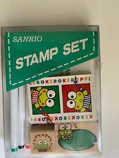 Vintage 1988,1992 Sanrio Keroppi Stamp Set Stamping Kit New