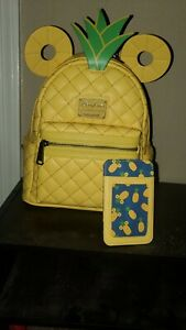 Mickey Mouse Pineapple Mini Backpack Cardholder by Loungefly BNWT