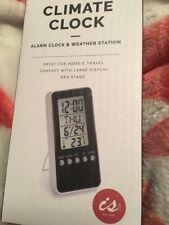 ISGift Climate Clock - Alarm Clock & Weather Station White Bnib Free Post (l)