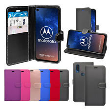 Case For Motorola One Vision Wallet Flip PU Leather Stand Card Slot Cover