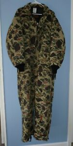 Vintage Walls Blizzard-Pruf Green Camo Insulated Coveralls Mens Large Regular