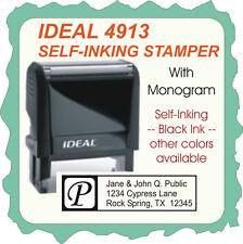 Return Address W/monogram, Custom, Trodat 4900 Series, Self Inking, Black I