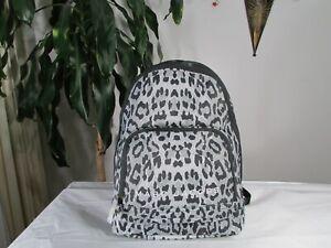 NWT Marc Jacobs Leopard Print Nylon Backpack Black Light Grey