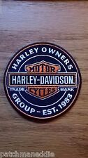 Genuine HARLEY DAVIDSON 4 inch HOG EMBROIDERED PATCHES OIL CAN