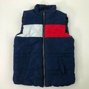 TOMMY HILFIGER Kids Red/White/Blue Nautical Puffer Vest Size 4T