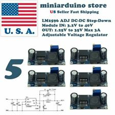 5 x LM2596 S DC-DC 3A Buck Converter Adjustable Step-Down Power Supply Module US