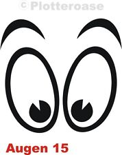 Ojos 15, auto, pegatinas, adhesivos para coches, murales, car sticker, Eye stickers, yeux