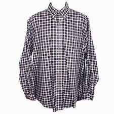 Brooks Brothers Non Iron Black Plaid Original Polo Button Up Shirt Men's Large