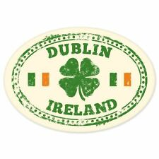 "Dublin Ireland travel car bumper window suitcase sticker 5"" x 4"""