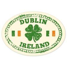 "Dublin Ireland travel car bumper window suitcase sticker 5"" x 4"""