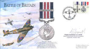 BB14c WWII WW2 BoB RAF Spitfire Battle of Britain cover signed pilot SMITH