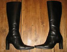 Charles David Black Leather Boots Sz 5.5 Tall Style Zanny Retail $315 EUC