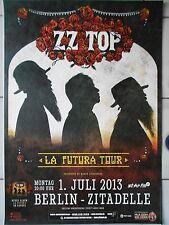 ZZ TOP 2013 Berlin + + Orig. Concert Poster-concert affiche NEUF