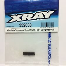 XRA332630 XRAY Adjustable Turnbuckle L/R 25 Mm - Hudy Spring Steel™ (2) - 332630