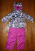 Girls Zeroxposur SNOW SUIT Winter Coat Bibs Pants Size 12 18 24 Mo 2 3 4T jacket