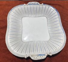 "MINTONS 10"" Square Handled Serving Dish Clay Ware April 1850 Date Stamp England"