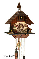 cuckoo clock black forest house quartz german music 12 melodies with dog new