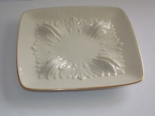 Lenox Square Ivory Plate Trimmed in Gold With Embossed Design