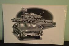 """Thom SanSoucie 1970-72 Nova SS Flashback Black & White Print 11""""x17"""" # 1300"""