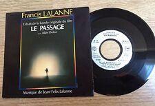 SP 45 tours BOF Le passage Alain Delon Jean-Félix Francis Lalanne 1986 EXC+