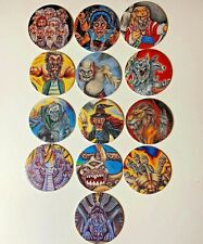 1995 Monster In My Pocket POGS Set Of 13 Milk Caps Chips Airmen MIMP