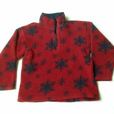 Gap Boys Fleece Pullover Top Size M~Boys 8~Red and Blue Snowflakes
