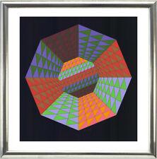 Victor VASARELY (1906-1997), composizione, 1979-FIRMATO, numerati, incorniciato