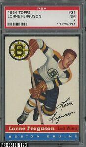 1954 Topps Hockey #31 Lorne Ferguson Boston Bruins PSA 7 NM