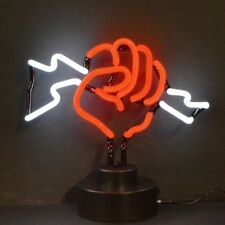 New neon super hero style Fist With Lightning style sign sculpture lamp light
