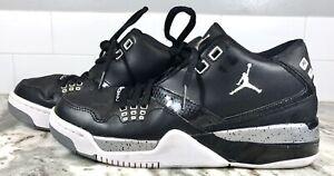 Nike Air Jordan Leather Flight 23 Gym Black/Grey 317821-011 Boys Youth Size 6y