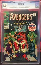 🔥🔑AVENGERS 54 CGC 6.0 1st APP ULTRON MASTERS OF EVIL AD SILVER SURFER #1🎥MCU