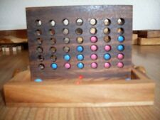 HANDMADE WOODEN TRADITIONAL GAME CONNECT 4 BINGO TRAVEL  SIZE  BRAND NEW