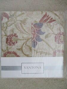 'VANTONA - GALIANA' PRETTY PLEATED VALANCE,100% COTTON,SIZE - KING,BNIP !