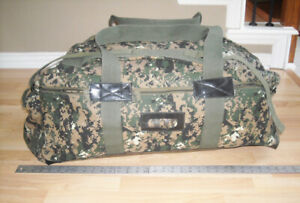 NEW LARGE Canvas Military Style DIGITAL CAMO Duffle Bag Backpack Tactical PACK