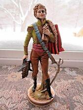 VINTAGE ITALY COMPOSITE RESIN STATUE FIGURINE 1700'S 1800'S SOLDIER MAN SWORD ?