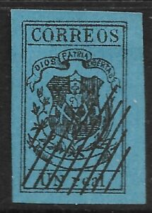 STAMPS-DOMINICAN REPUBLIC. 1910-13. 1 Real Black on Deep Blue. Fournier Forgery.